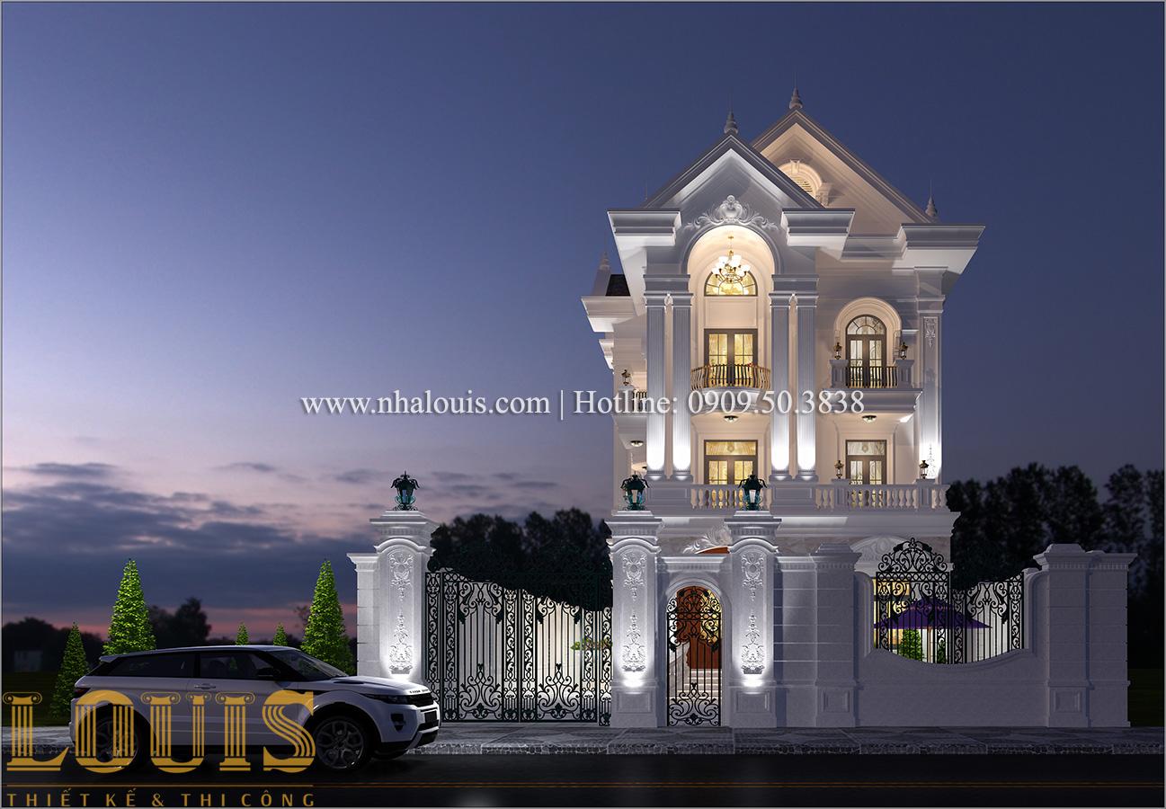 Mặt tiền Mẫu biệt thự 4 tầng phong cách tân cổ điển nổi bật tại Thanh Hóa - 04