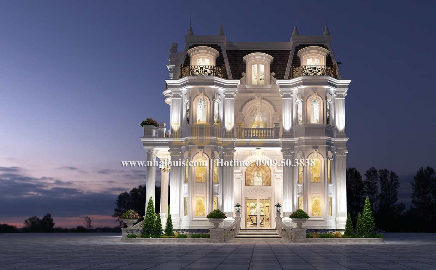 Mặt tiền Mẫu biệt thự kiến trúc Pháp tại Đồng Nai đẹp hoa lệ - 04
