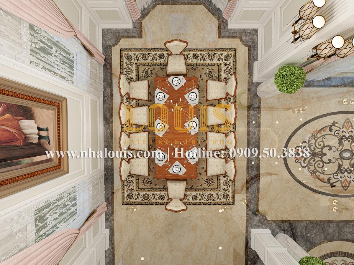 Phòng khách Mẫu biệt thự kiến trúc Pháp tại Đồng Nai đẹp hoa lệ - 06