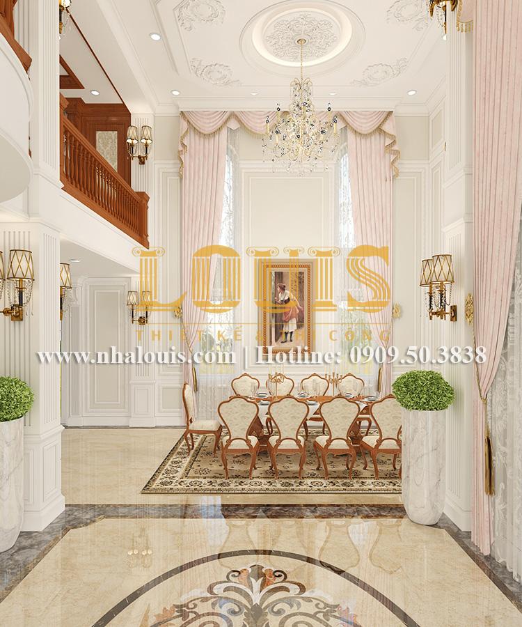 Phòng khách Mẫu biệt thự kiến trúc Pháp tại Đồng Nai đẹp hoa lệ - 08
