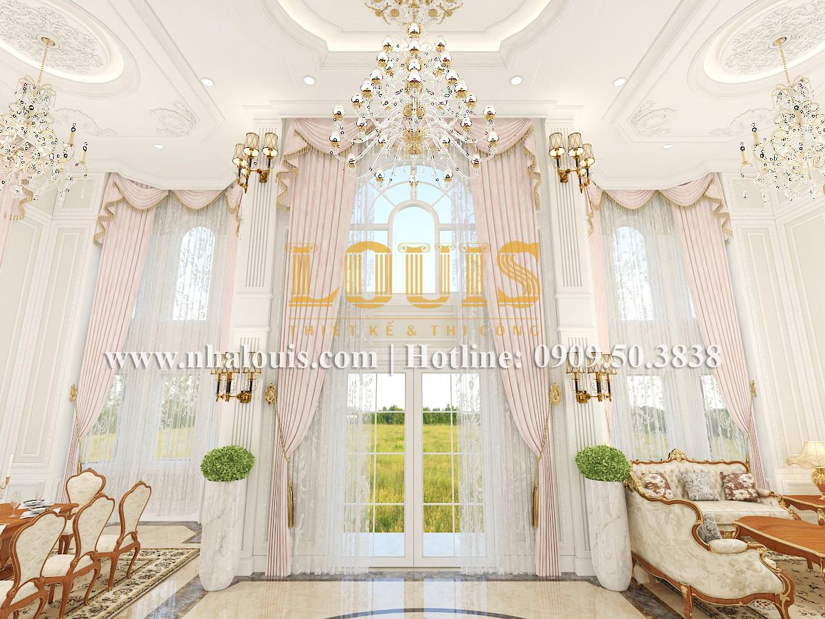Phòng khách Mẫu biệt thự kiến trúc Pháp tại Đồng Nai đẹp hoa lệ - 09