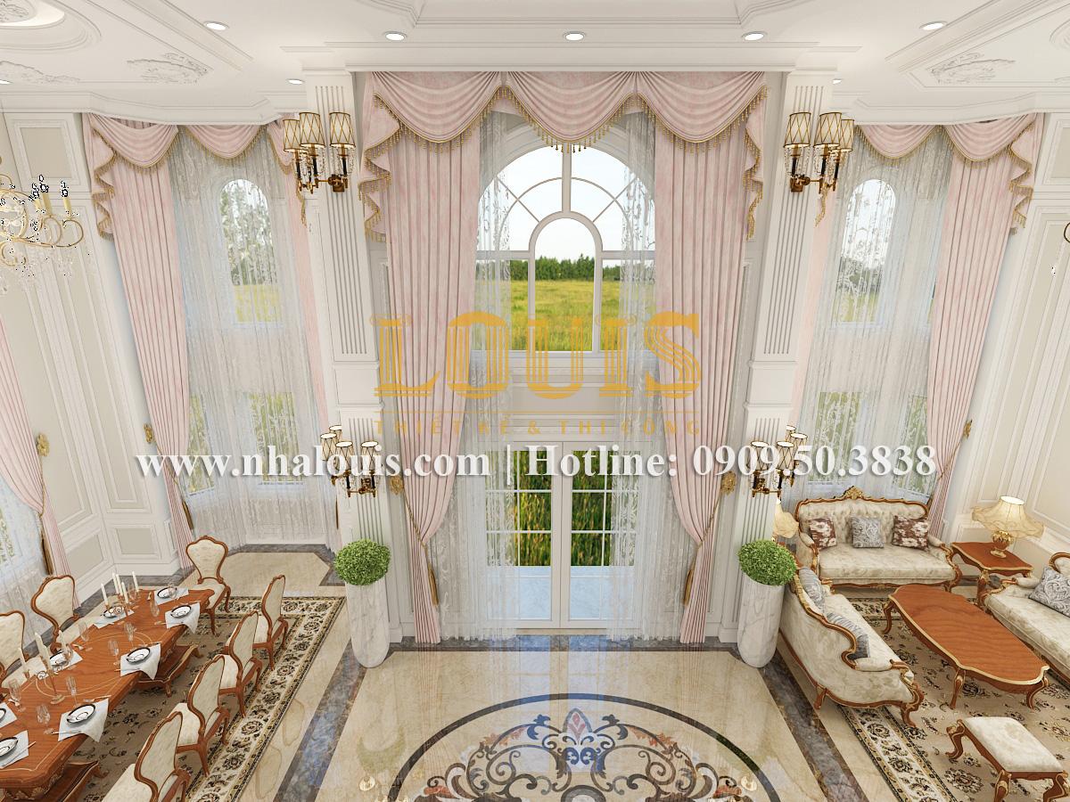 Phòng khách Mẫu biệt thự kiến trúc Pháp tại Đồng Nai đẹp hoa lệ - 10