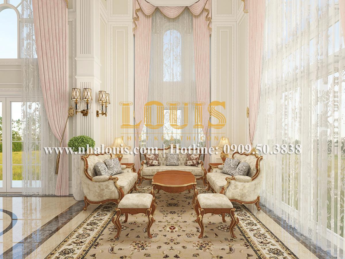 Phòng khách Mẫu biệt thự kiến trúc Pháp tại Đồng Nai đẹp hoa lệ - 12