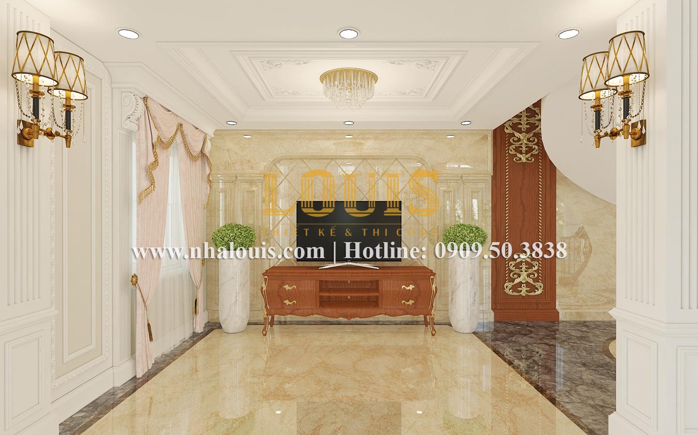 Phòng khách Mẫu biệt thự kiến trúc Pháp tại Đồng Nai đẹp hoa lệ - 13
