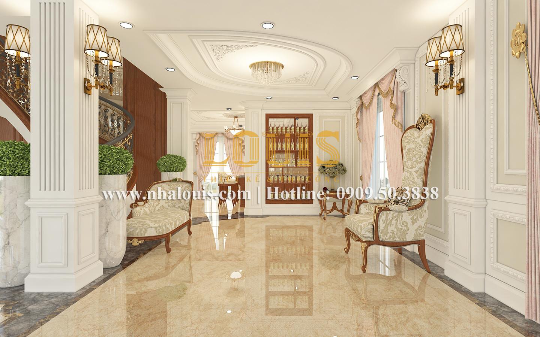 Phòng khách Mẫu biệt thự kiến trúc Pháp tại Đồng Nai đẹp hoa lệ - 14