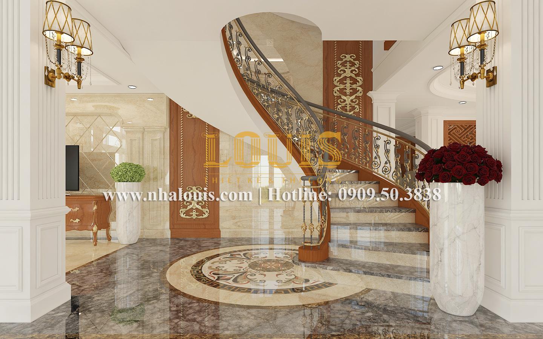 Cầu thang Mẫu biệt thự kiến trúc Pháp tại Đồng Nai đẹp hoa lệ - 15