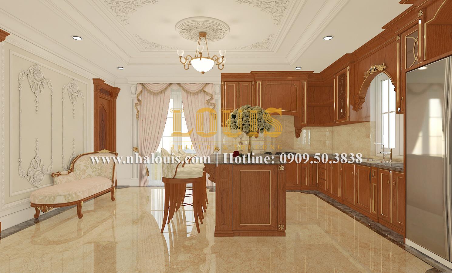 Bếp và phòng ăn Mẫu biệt thự kiến trúc Pháp tại Đồng Nai đẹp hoa lệ - 16