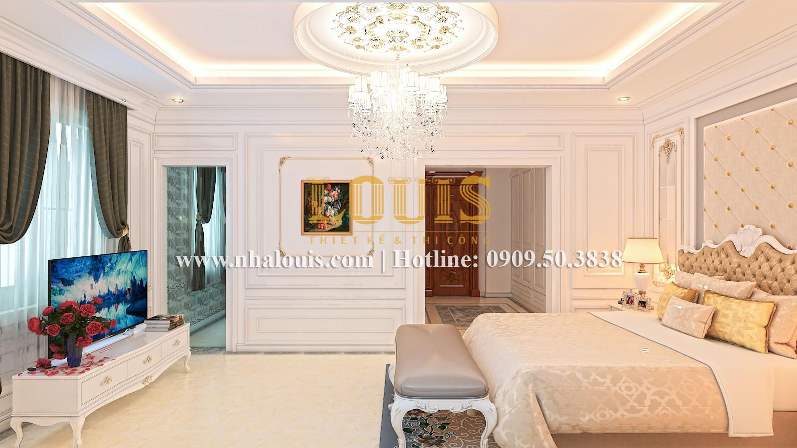 Phòng ngủ Mẫu biệt thự kiến trúc Pháp tại Đồng Nai đẹp hoa lệ - 20