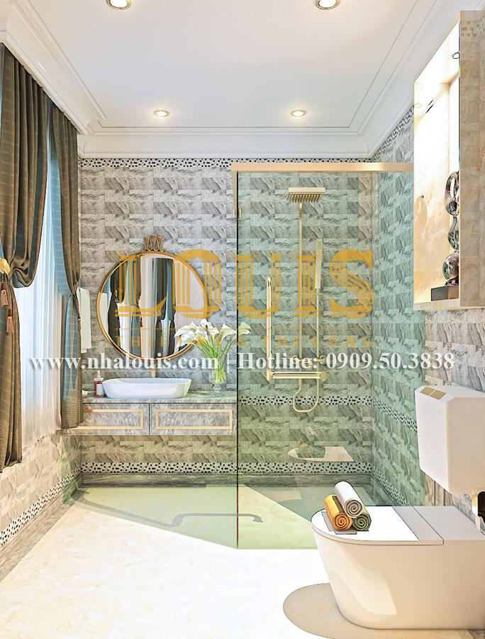Phòng tắm và WC Mẫu biệt thự kiến trúc Pháp tại Đồng Nai đẹp hoa lệ - 22
