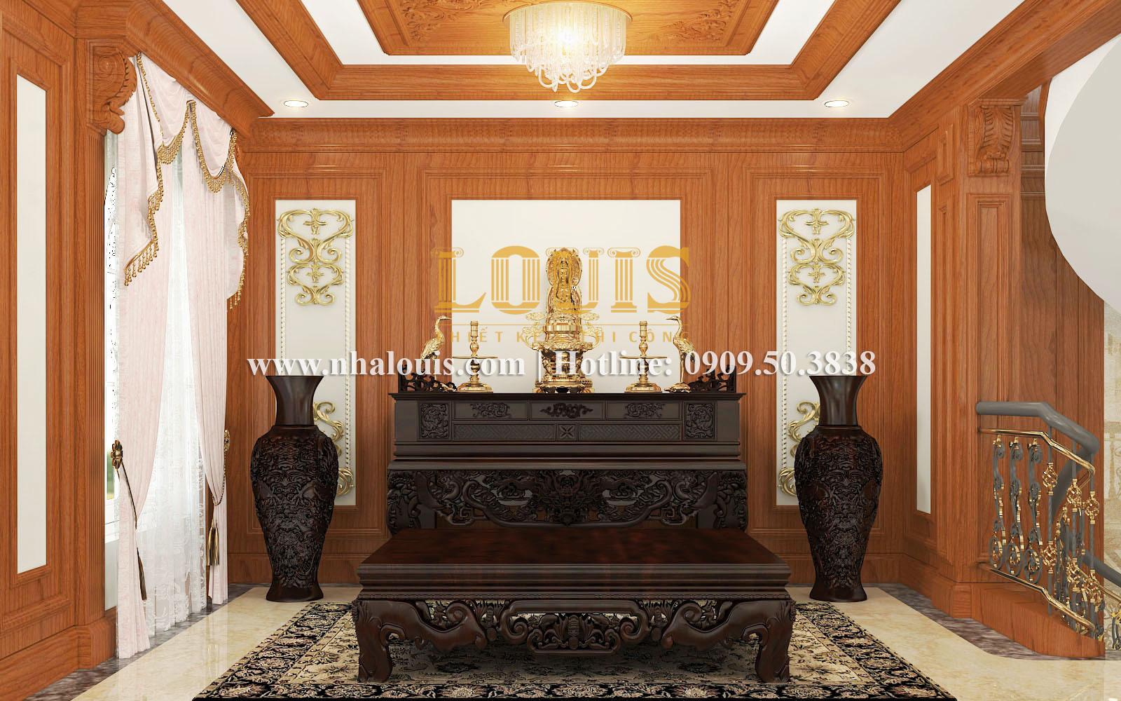 Phòng thờ Mẫu biệt thự kiến trúc Pháp tại Đồng Nai đẹp hoa lệ - 25