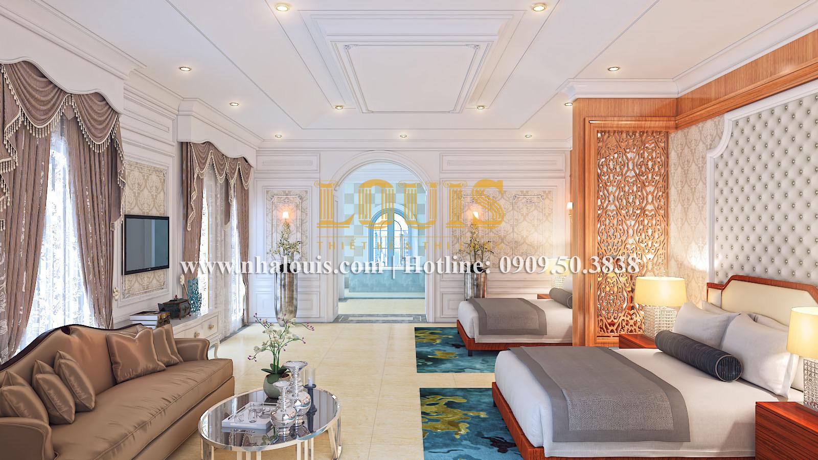 Phòng ngủ Mẫu biệt thự kiến trúc Pháp tại Đồng Nai đẹp hoa lệ - 26