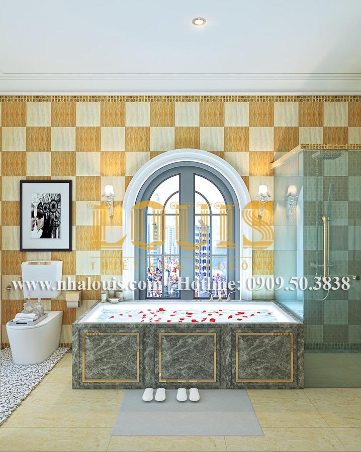 Phòng tắm và WC Mẫu biệt thự kiến trúc Pháp tại Đồng Nai đẹp hoa lệ - 32