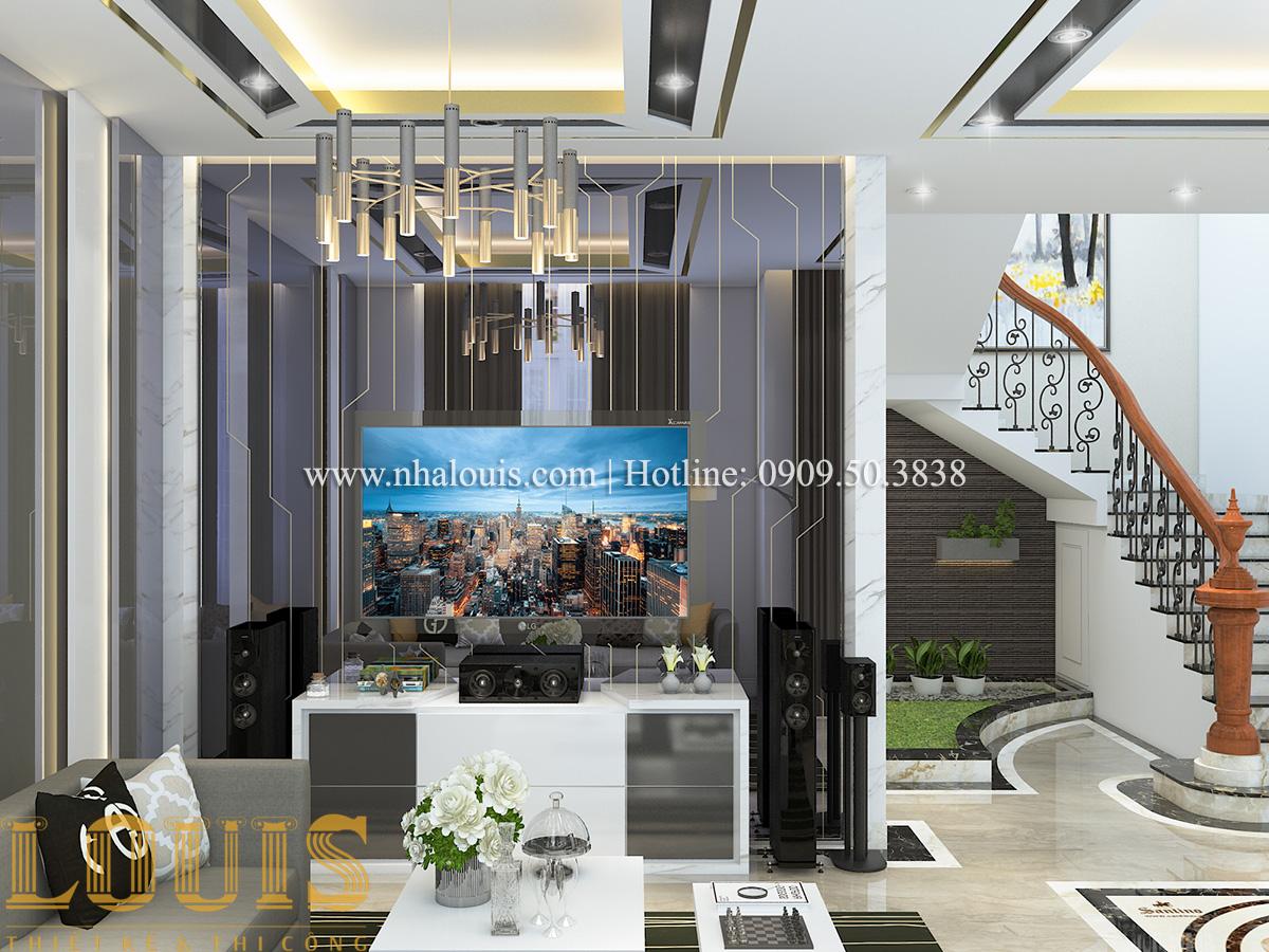 Phòng khách Mẫu biệt thự tân cổ điển đẹp thời thượng tại Vũng Tàu - 03