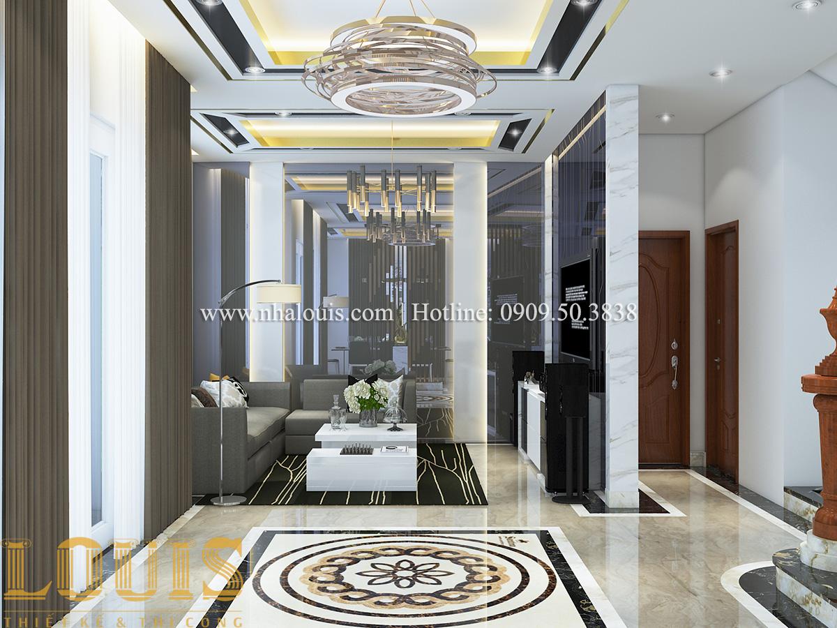 Phòng khách Mẫu biệt thự tân cổ điển đẹp thời thượng tại Vũng Tàu - 04