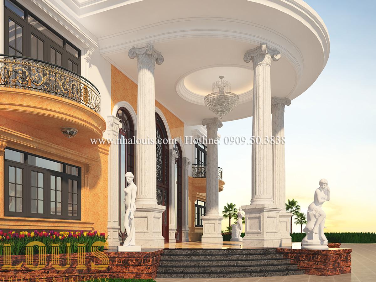 Sảnh Mẫu biệt thự vườn 3 tầng theo phong cách Ả Rập độc đáo ở Tiền Giang - 06