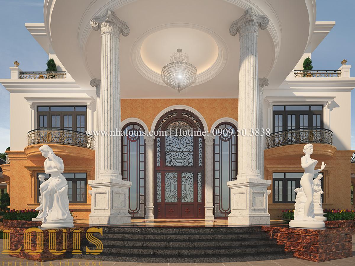 Mặt tiền Mẫu biệt thự vườn 3 tầng theo phong cách Ả Rập độc đáo ở Tiền Giang - 11