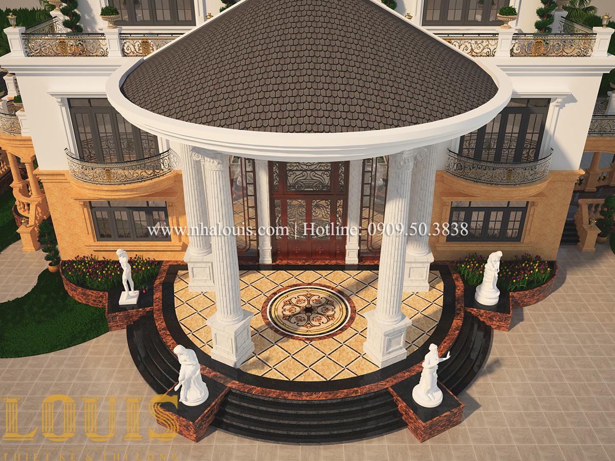 Mặt tiền Mẫu biệt thự vườn 3 tầng theo phong cách Ả Rập độc đáo ở Tiền Giang - 12