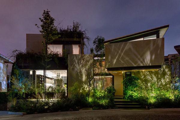 Ngỡ ngàng với căn biệt thự xanh mướt phong cách hiện đại