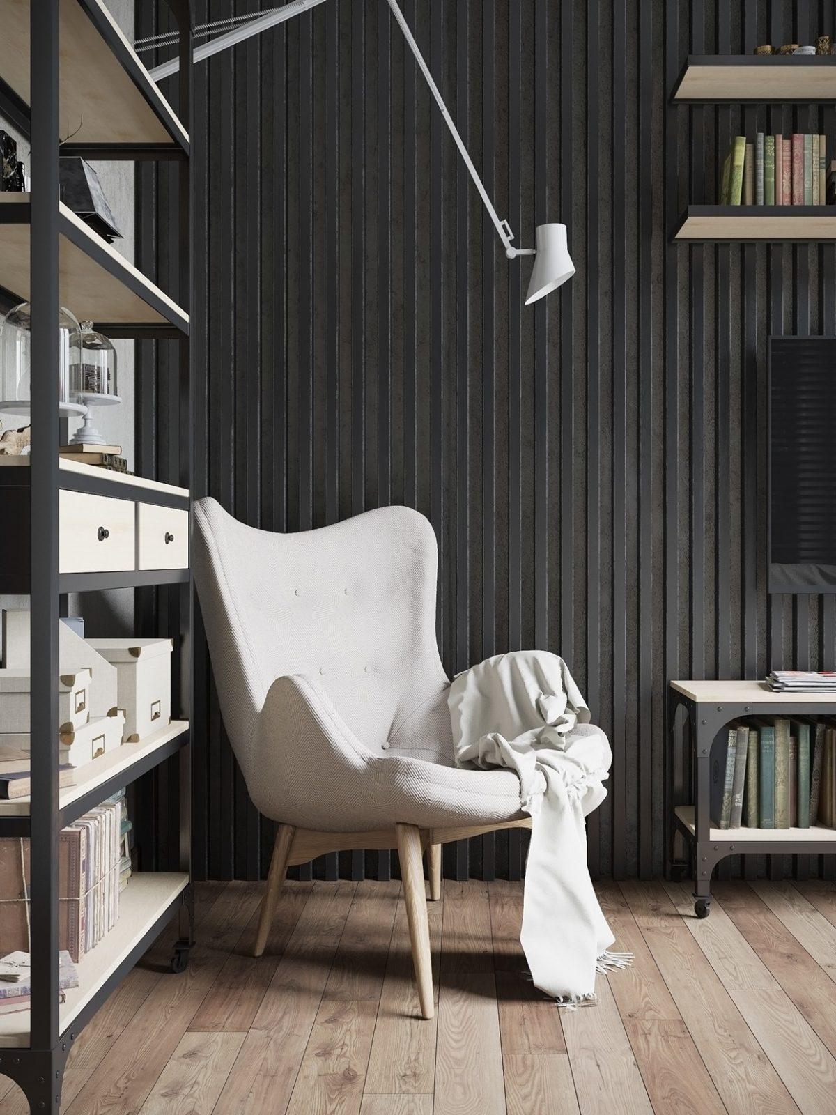 Tham khảo mẫu nội thất tông màu xám đen siêu đẹp tại Nga