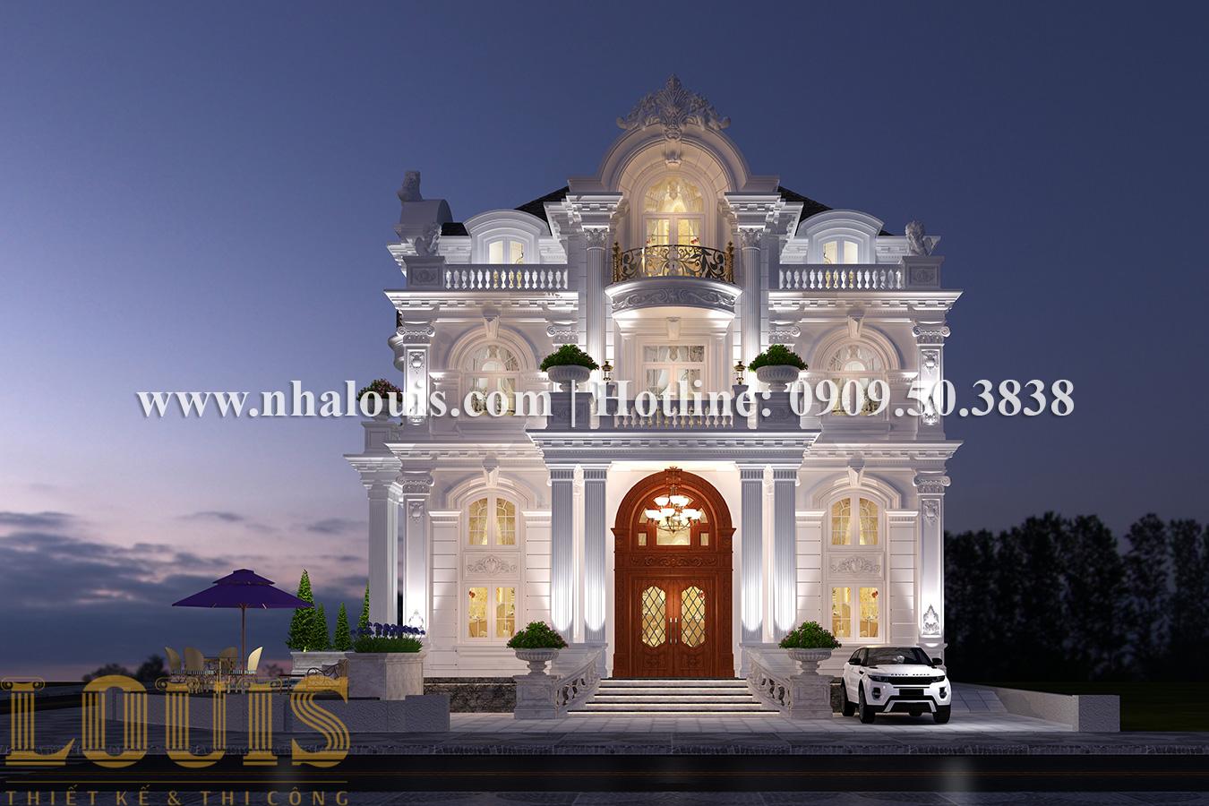 Thiết kế mẫu biệt thự kiểu Pháp 4 tầng tại Quận 9 đẹp kiêu sa - 01