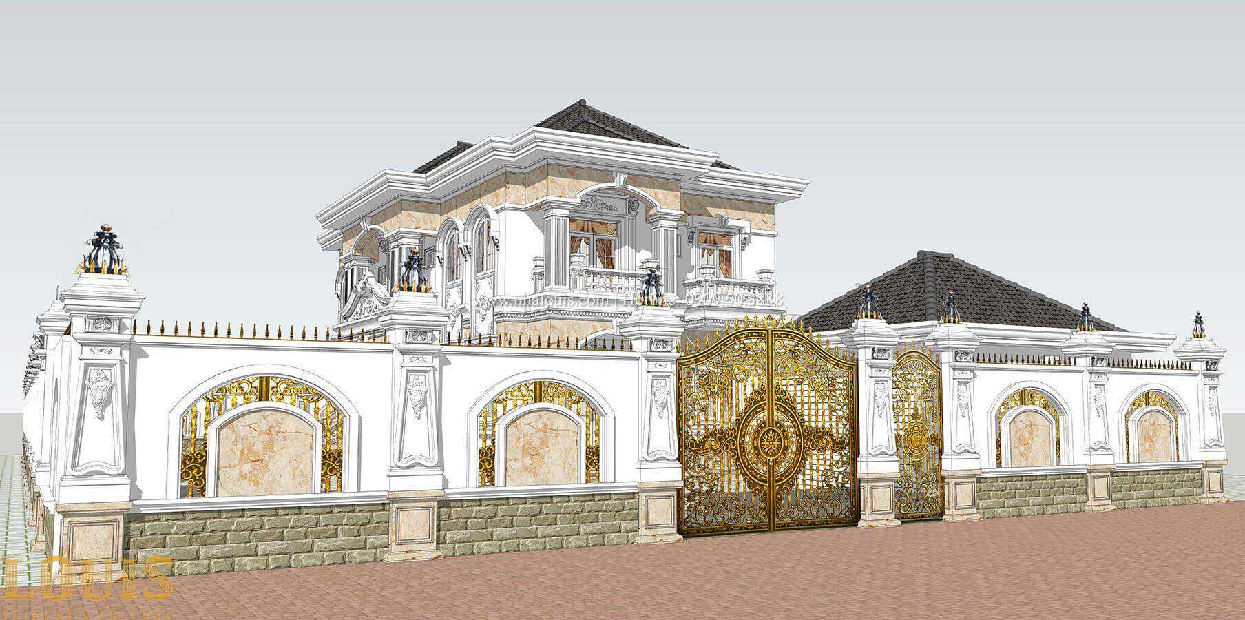 Cổng Biệt thự 2 tầng cổ điển chuẩn sang trọng tại Hóc Môn - 07