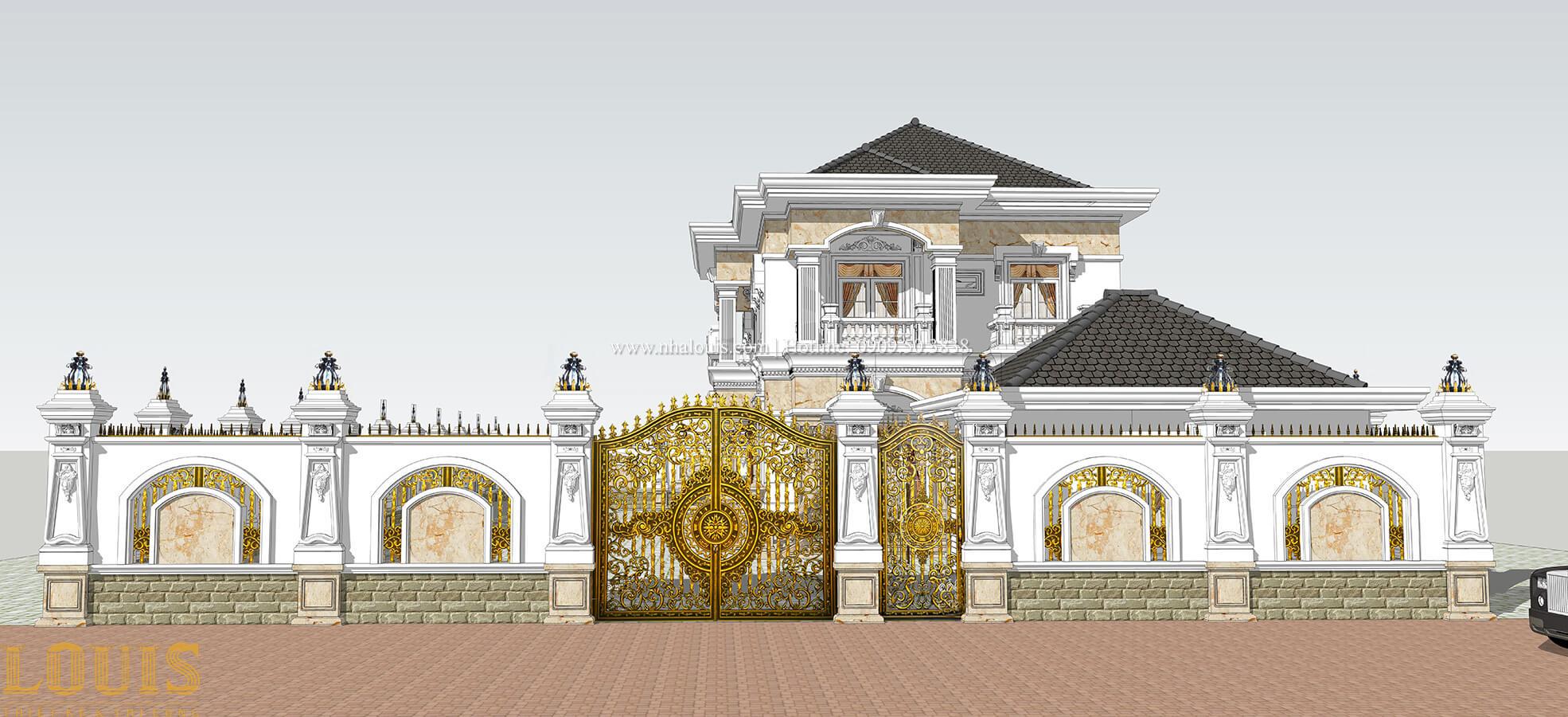 Cổng Biệt thự 2 tầng cổ điển chuẩn sang trọng tại Hóc Môn - 08
