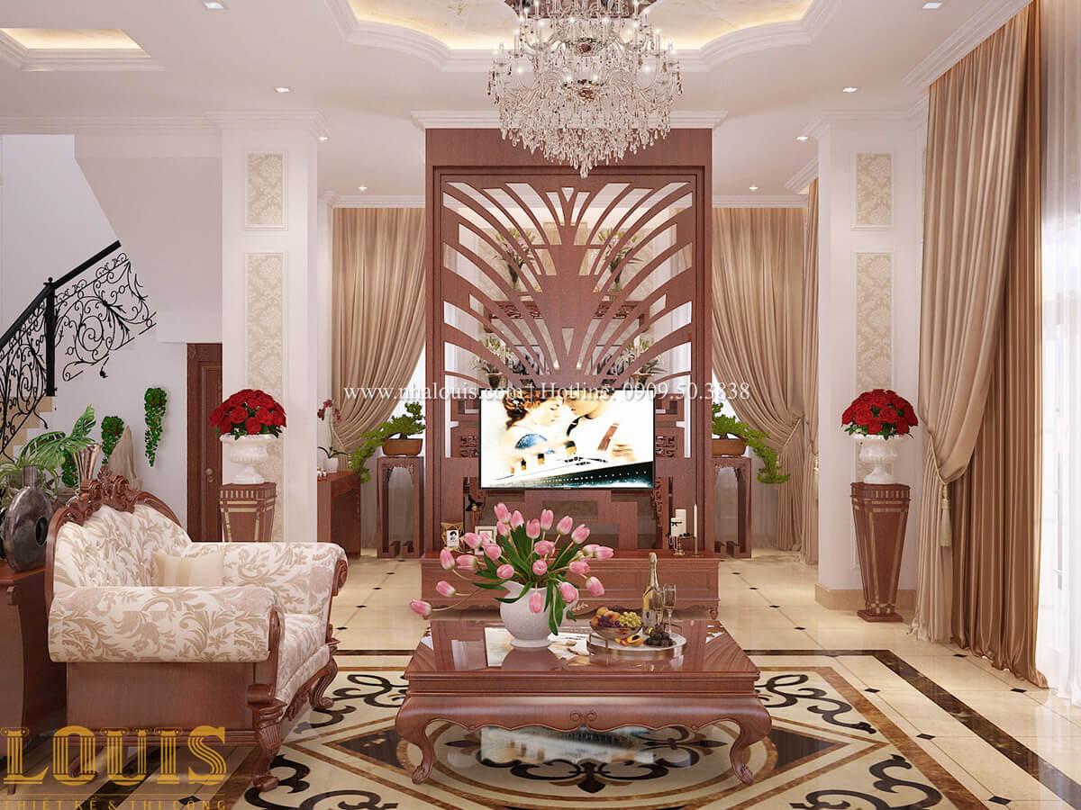 Phòng khách Biệt thự 2 tầng cổ điển chuẩn sang trọng tại Hóc Môn - 12