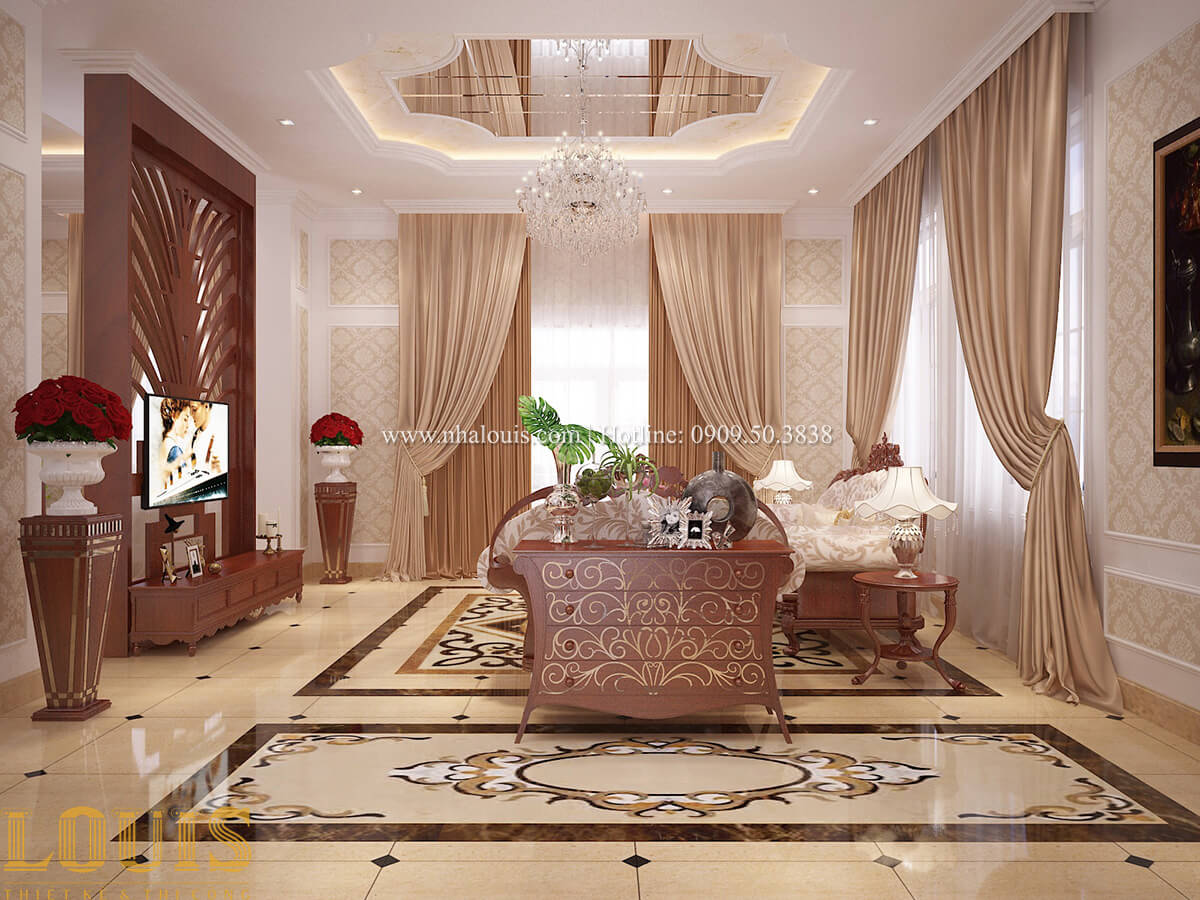 Phòng khách Biệt thự 2 tầng cổ điển chuẩn sang trọng tại Hóc Môn - 19