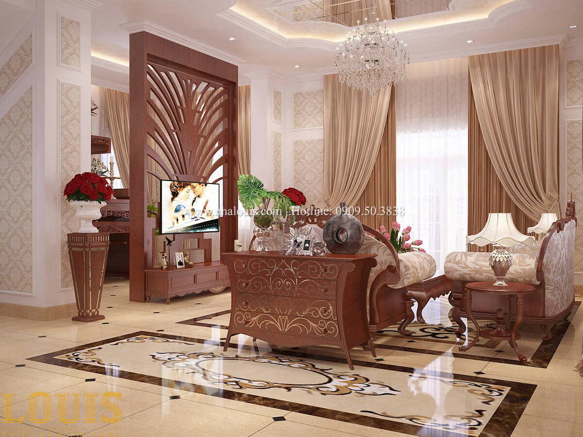 Phòng khách Biệt thự 2 tầng cổ điển chuẩn sang trọng tại Hóc Môn - 21