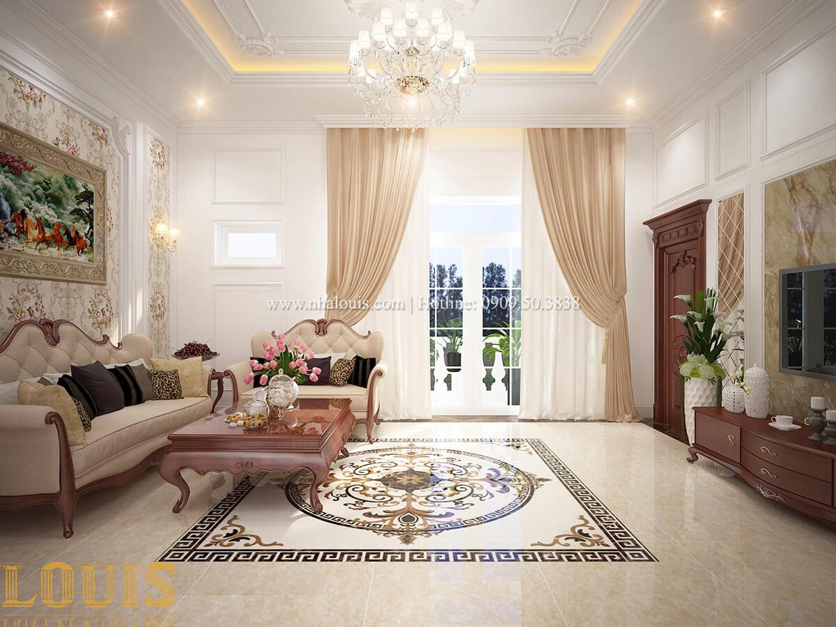Phòng sinh hoạt chung Biệt thự 2 tầng cổ điển chuẩn sang trọng tại Hóc Môn - 25