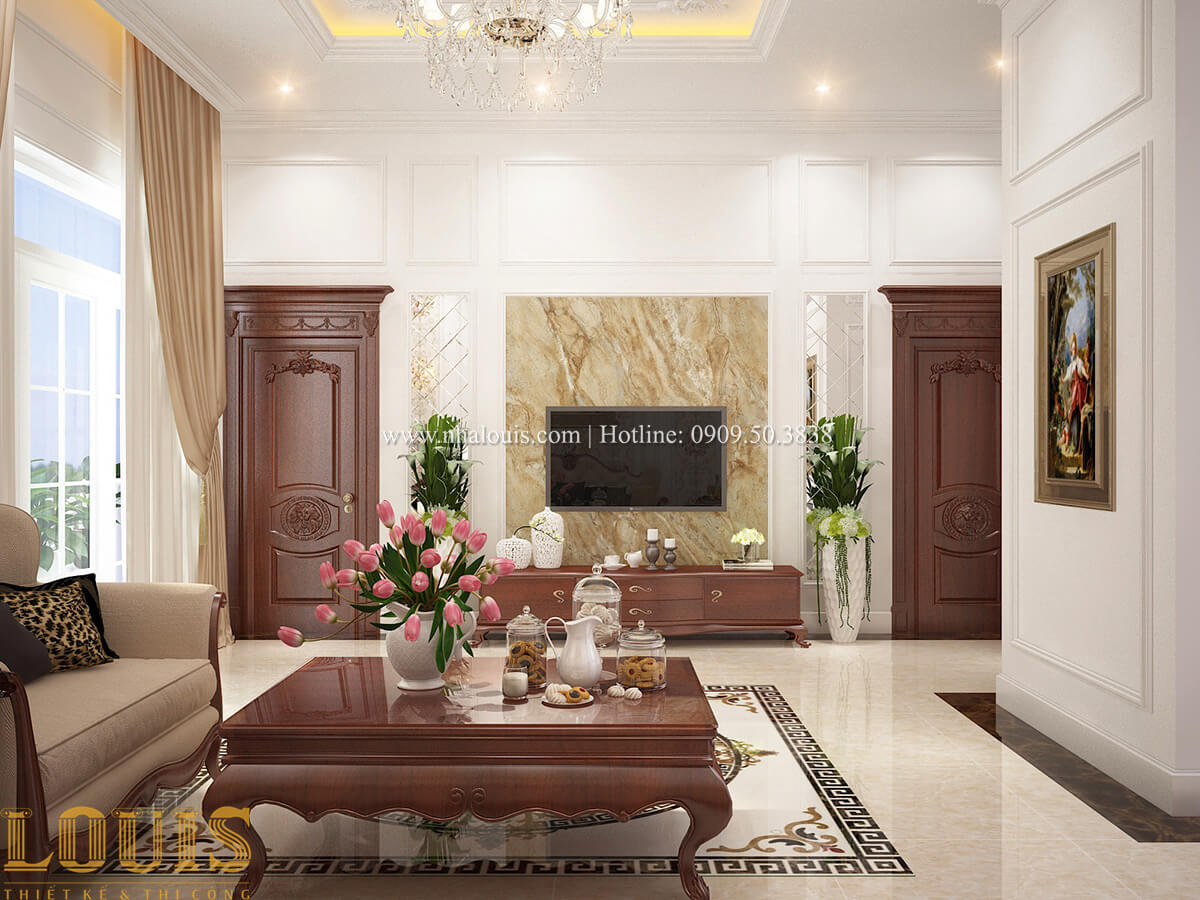 Phòng sinh hoạt chung Biệt thự 2 tầng cổ điển chuẩn sang trọng tại Hóc Môn - 26