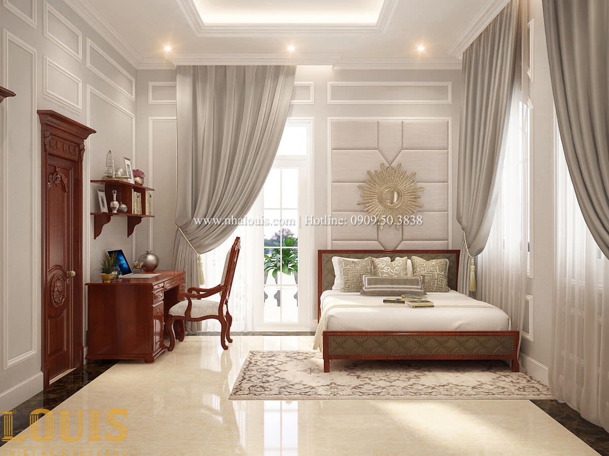 Phòng ngủ Biệt thự 2 tầng cổ điển chuẩn sang trọng tại Hóc Môn - 34