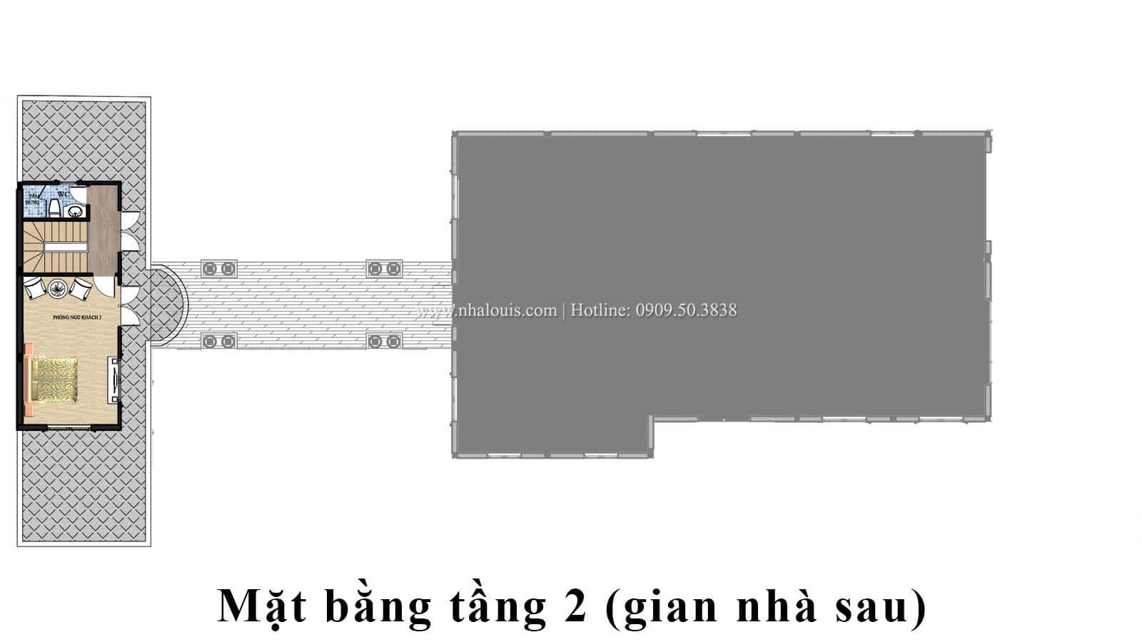 Mặt bằng tầng 2 Mẫu biệt thự 2 tầng đẹp quý phái tại Hội An - 07