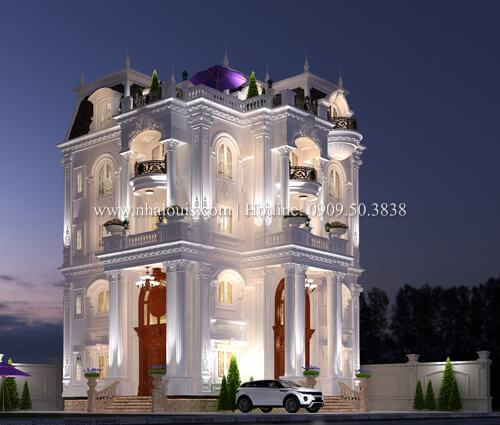 Mẫu biệt thự châu Âu cổ điển đẹp mê mẩn tại Nhà Bè