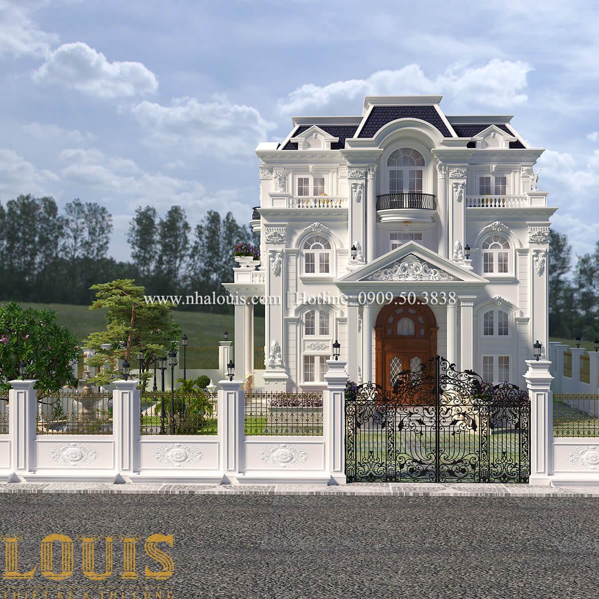 Mặt tiền Thiết kế biệt thự phong cách tân cổ điển đậm chất lãng mạn tại Vĩnh Long - 02