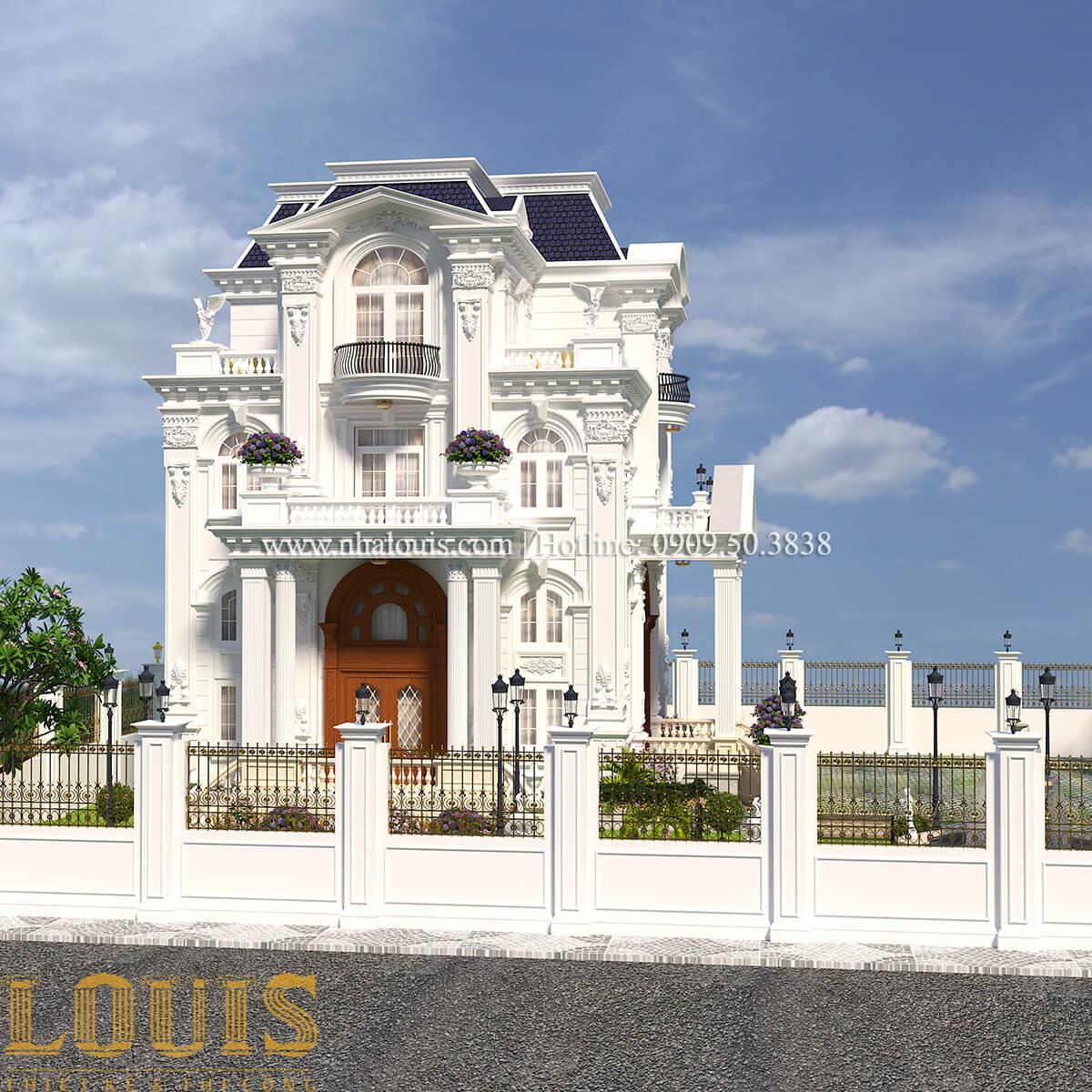 Mặt tiền Thiết kế biệt thự phong cách tân cổ điển đậm chất lãng mạn tại Vĩnh Long - 03