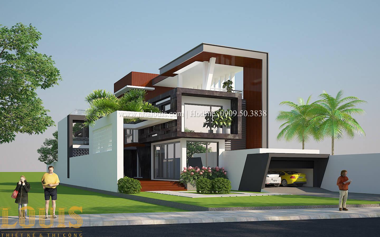 Thiết kế mẫu biệt thự 3 tầng hiện đại cực chất tại Quận 12 - 01