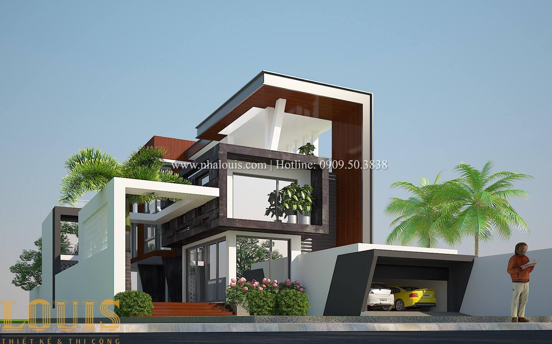 Thiết kế mẫu biệt thự 3 tầng hiện đại cực chất tại Quận 12 - 02