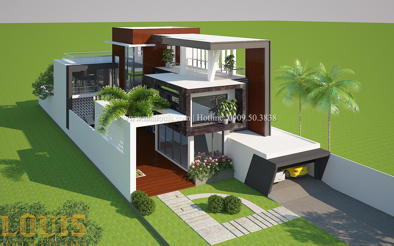 Thiết kế mẫu biệt thự 3 tầng hiện đại cực chất tại Quận 12 - 03