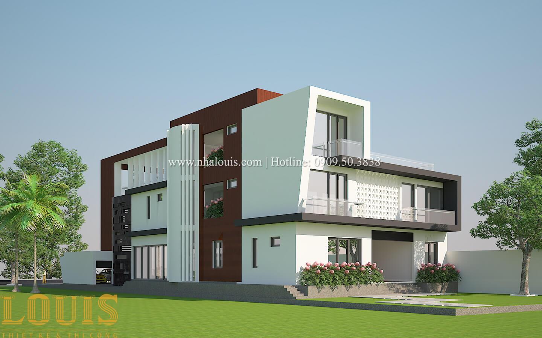 Thiết kế mẫu biệt thự 3 tầng hiện đại cực chất tại Quận 12 - 07