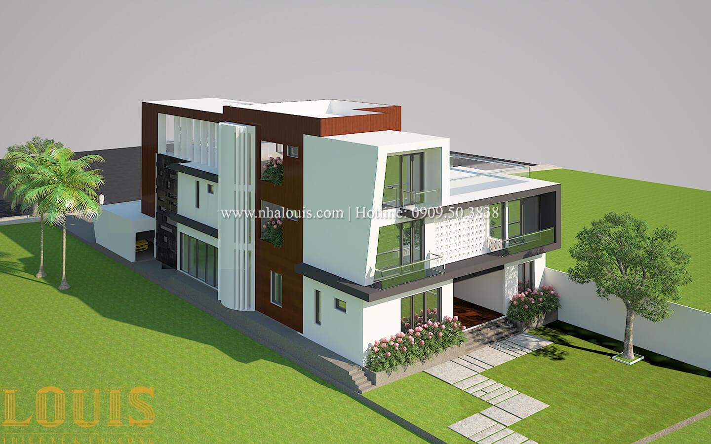 Thiết kế mẫu biệt thự 3 tầng hiện đại cực chất tại Quận 12 - 08