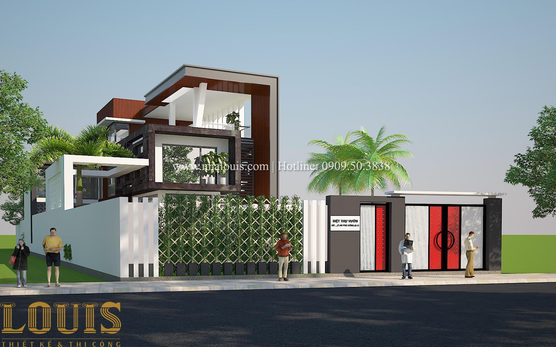Thiết kế mẫu biệt thự 3 tầng hiện đại cực chất tại Quận 12 - 09