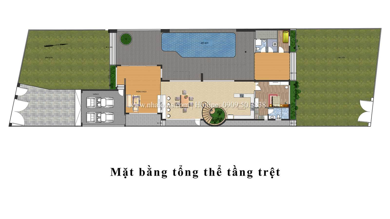 Thiết kế mẫu biệt thự 3 tầng hiện đại cực chất tại Quận 12 - 10