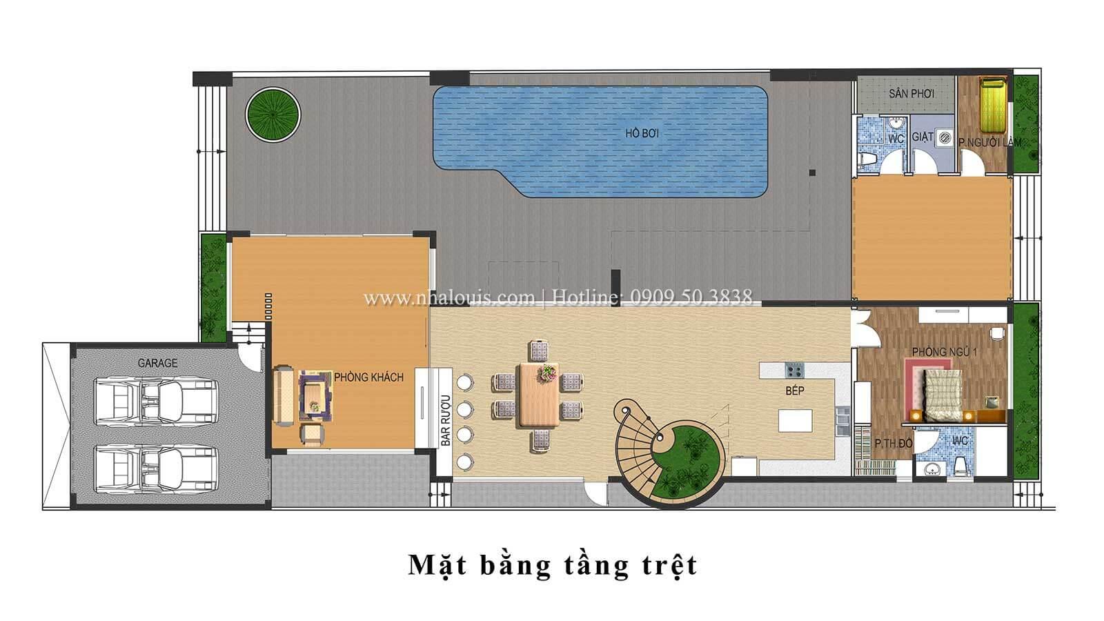 Thiết kế mẫu biệt thự 3 tầng hiện đại cực chất tại Quận 12 - 11