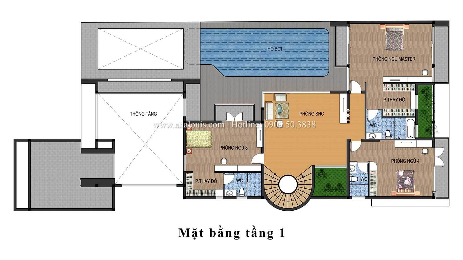 Thiết kế mẫu biệt thự 3 tầng hiện đại cực chất tại Quận 12 - 12