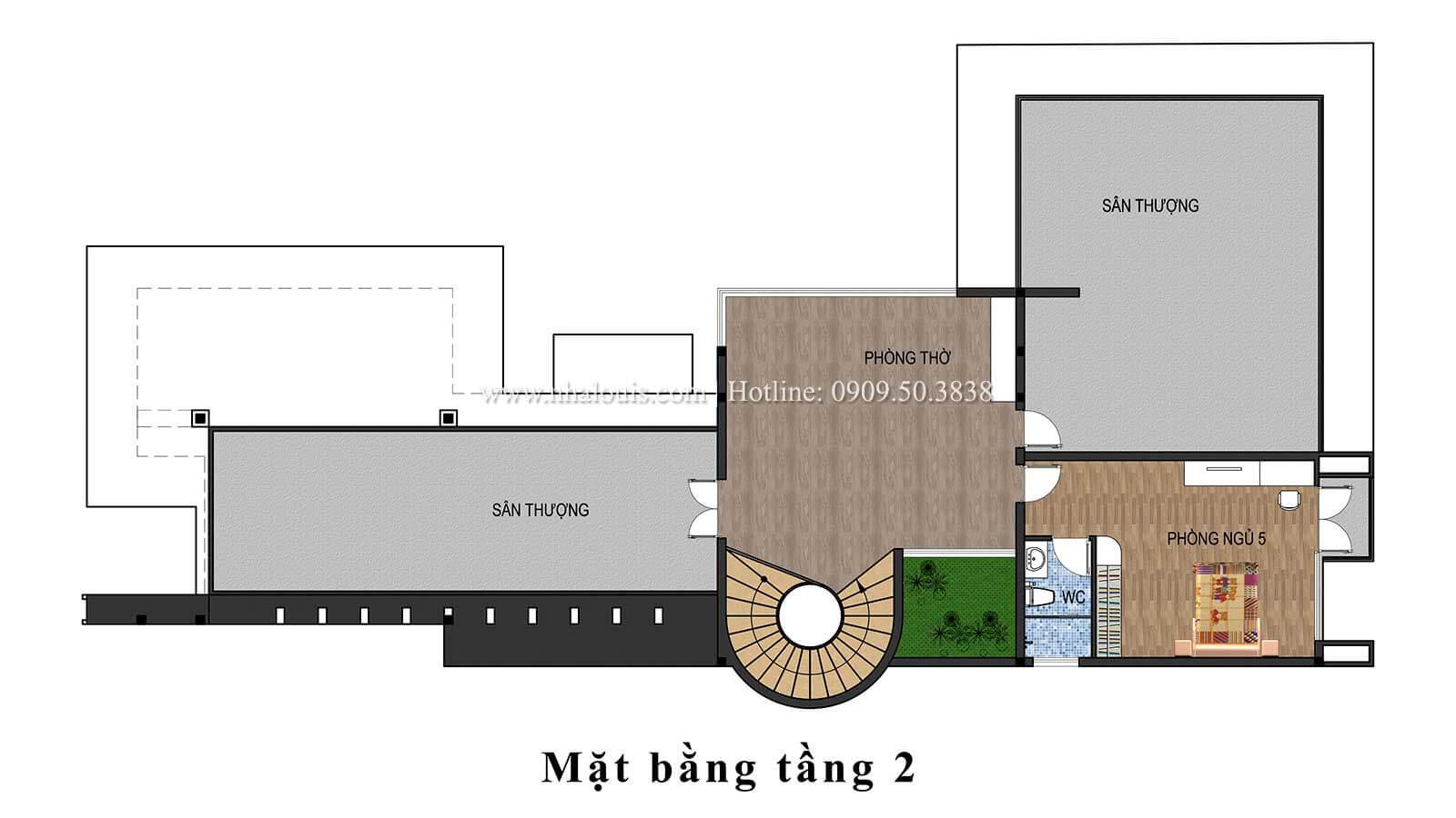 Thiết kế mẫu biệt thự 3 tầng hiện đại cực chất tại Quận 12 - 13