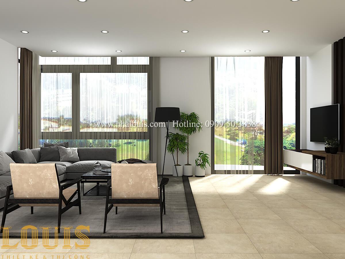 Thiết kế mẫu biệt thự 3 tầng hiện đại cực chất tại Quận 12 - 32