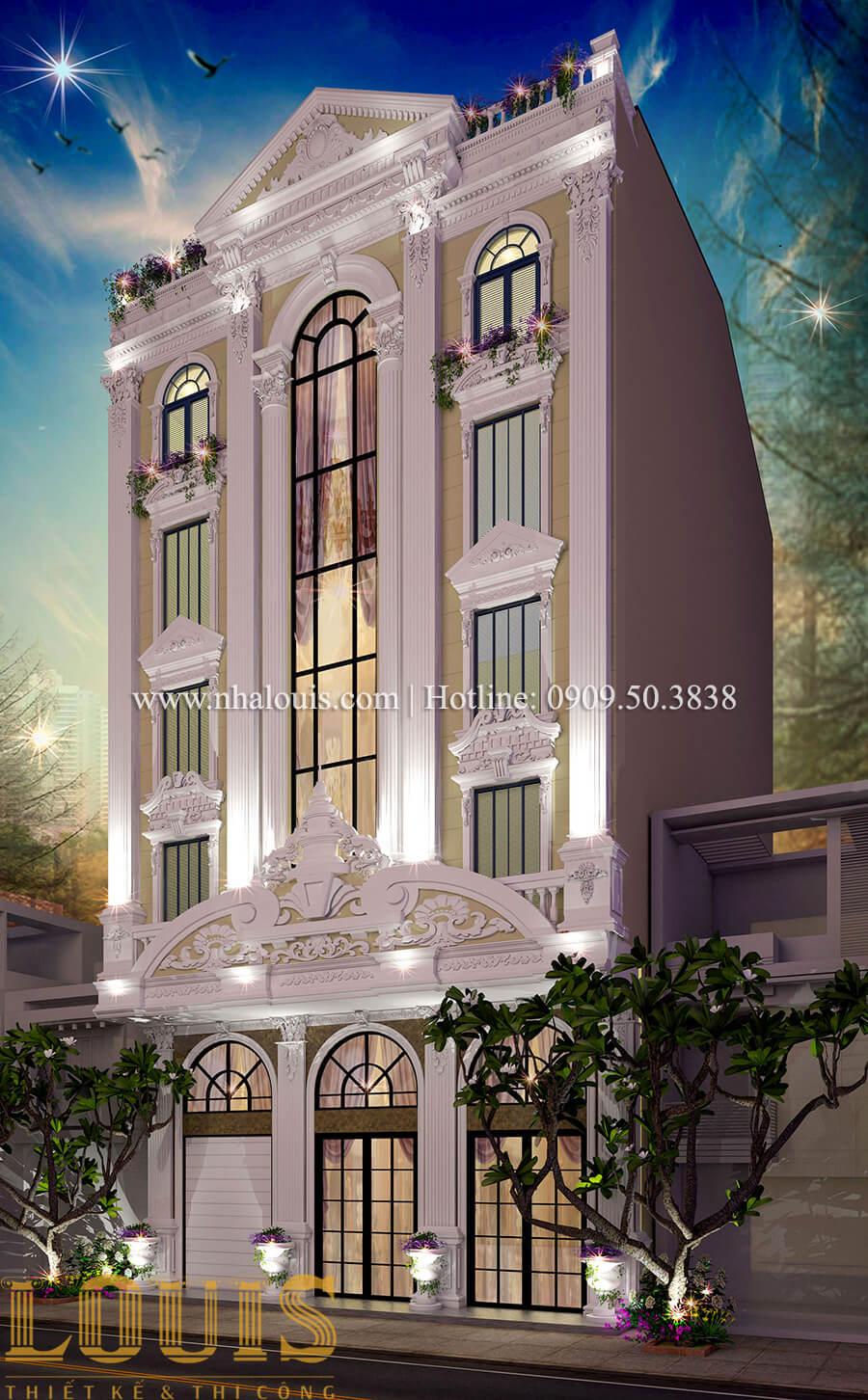 Mặt tiền Thiết kế sửa chữa nhà cũ thành biệt thự sang trọng tại Tân Phú - 06