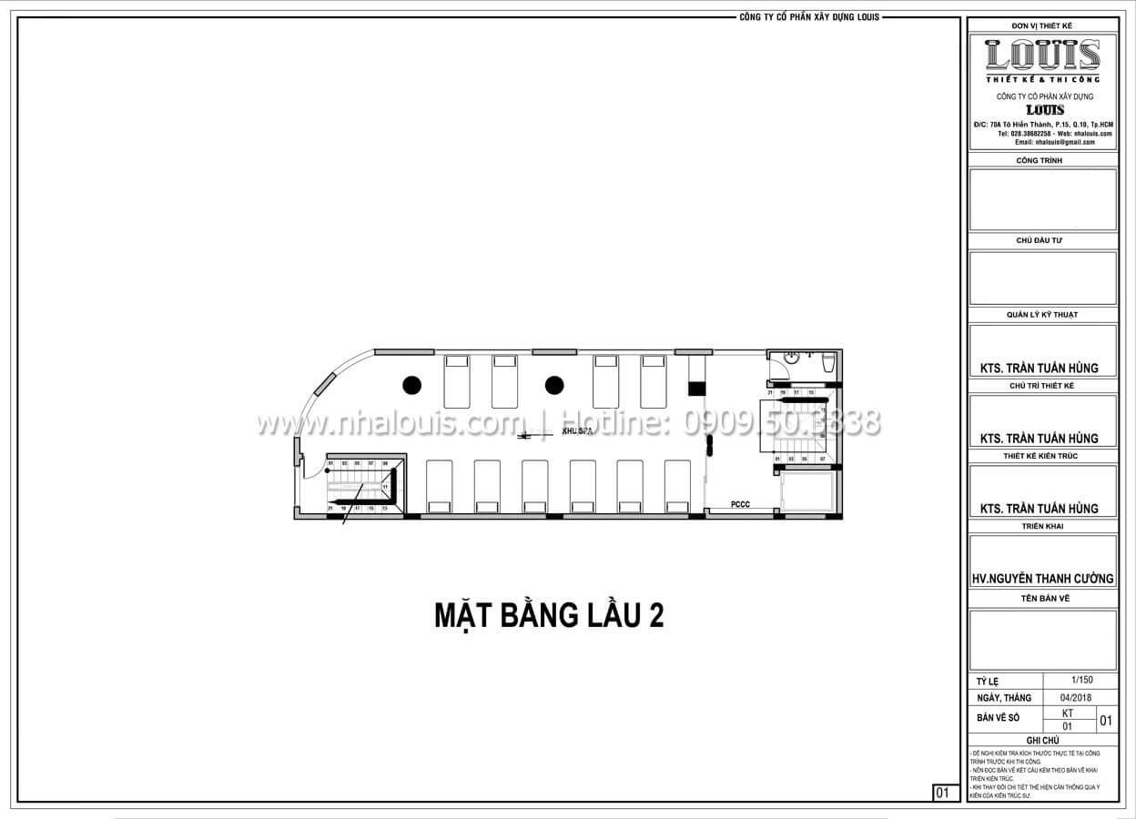 Mặt bằng tầng 2 Thiết kế văn phòng cho thuê đẹp lung linh tại Đà Nẵng - 06