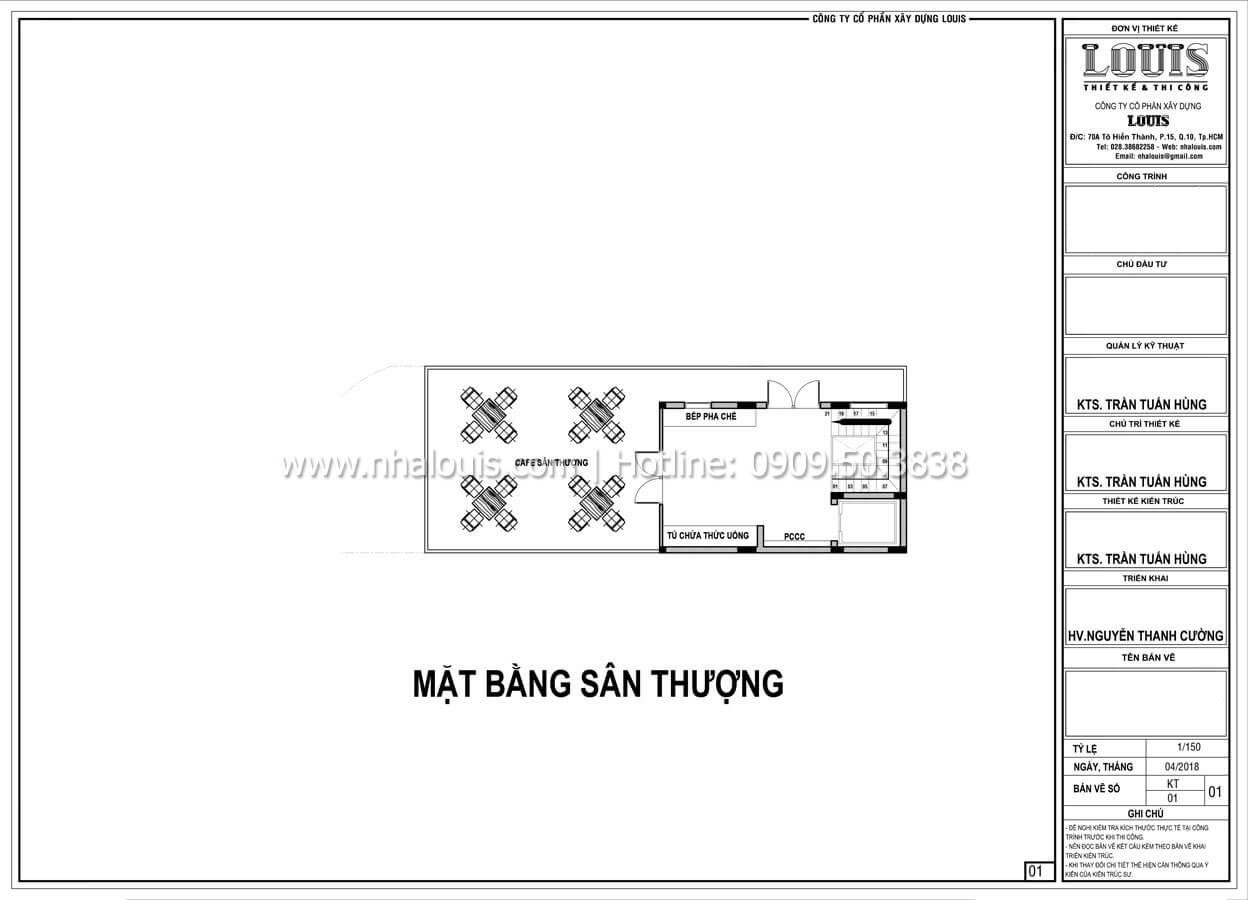 Mặt bằng tầng thượng Thiết kế văn phòng cho thuê đẹp lung linh tại Đà Nẵng - 10